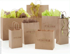 Custom printed kraft shopping bags