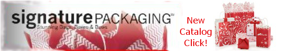 Signature Packaging Line - Bags, Boxes, Bows, Gift Wrap, Basket Supplies