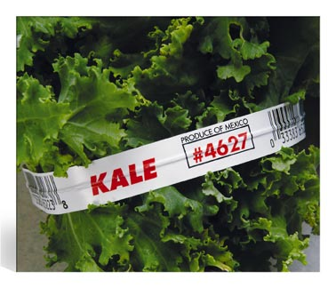 Custom Printed Twist Ties Organic Kale